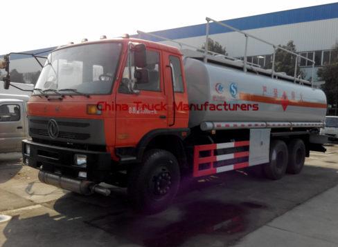 6x4 6000 gallon fuel tanker truck