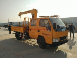 JMC crane truck with 3 tons crane arm