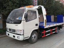 DONGFENG 3 ton flatbed wrecker truck