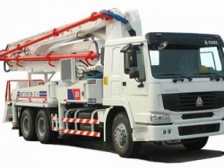37m mounted concrete pump truck