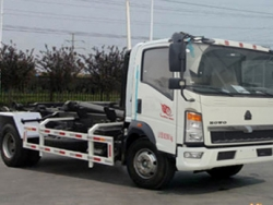 SINOTRUK Pull Arm Self-discharging Refuse Truck