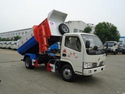 DONGFENG 5m3 Hydraulic lifter garbage truck