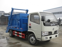 Mini swing arm garbage truck 4cbm