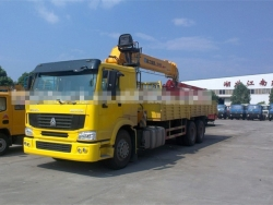 Howo 14ton cargo truck with crane