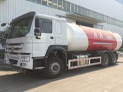 Howo 24.8cbm 6x4 lpg autogas tank truck