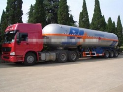 56000L 3 Axle Fuwa LPG Tanker Gas Semi Trailer