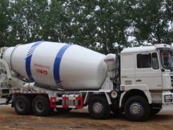 12 cubic meters 8x4 SHACMAN 336HP concrete cement mixer truc