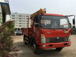 Sinotruk 4x2 5 tons mini truck with crane
