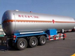 propane gas and LNG transportation semi trailer