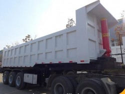 strong lifting cylinder equipped Semi Dump Trailers 3 axle tipper Lorry