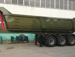 3 axle heavy duty low profile dump trailer