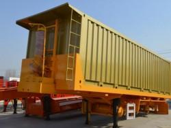 3 axle tractor head truck semi hydraulic dump trailer