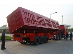 Maxway 3Axle Side tipping Auto discharge semi truck trailer