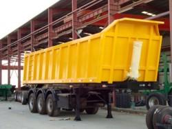 3 axle 45 cbm Rear dump tipper trailer