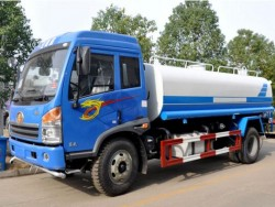 FAW 4X2 Watering Vehicle 12 Liter Capacity Water Transportin
