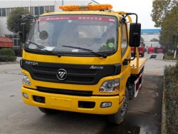 FOTON flatbed tow wrecker car carrier truck