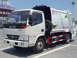 Small 4x2 Drive Wheel Compactor GarbageTruck