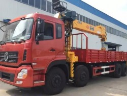 DONGFENG KINLAND 8*4 Hydraulic Truck Crane 12ton