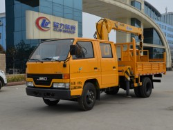 4*2 JMC Two-row Truck with Arm Crane 2ton