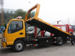 4x2 JAC diesel 4 ton flatbed tow truck wrecker