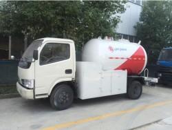 Dongfeng 4x2 mini lpg tanker transportation truck