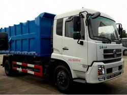15m3 dongfeng tianjin 4x2 docking rubbish collector truck