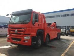 howo 8x4 100ton road wrecker truck