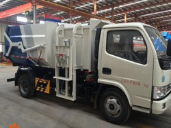 6-9 CBM garbage truck docking garbage truck