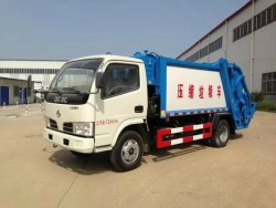 Dongfeng 4*2 5CBM mini garbage collector truck