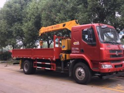 6ton Dongfeng Lorry Mounted Telescopic Boom Crane
