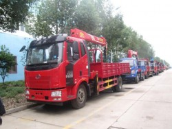 FAW 5 ton truck with crane