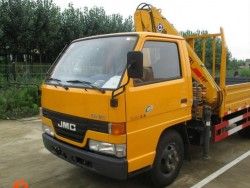 4x2 109HP JMC 5ton full foldable boom truck mounted crane