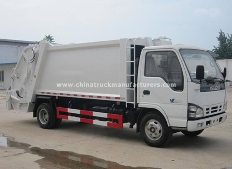Isuzu Small Compression Garbage Truck For Sale Cheap Price