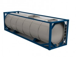Stainless steel ISO 40 feet liquid food tank container