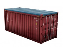 China 20 ft open top shipping container with tarpaulin